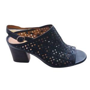 Franco Sarto Nanette black leather sandals, 9